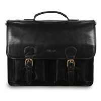 Портфель Ashwood Leather 8190 Black Черный