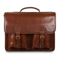 Портфель Ashwood Leather 8190 Chestnut Brown Коричневый