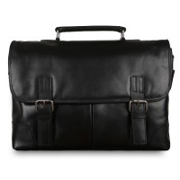 Портфель Ashwood Leather Elliot Black Черный