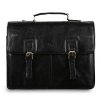 Портфель Ashwood Leather Gareth Black Черный