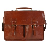 Портфель Ashwood Leather Gareth Chestnut Brown Коричневый