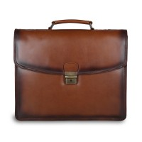 Портфель Ashwood Leather Orlando Tan коричневый