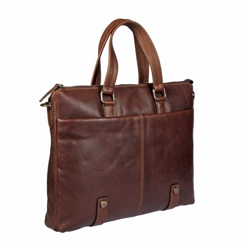 Бизнес-сумка  Gianni Conti 1221273 dark brown